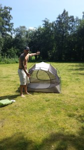 Yay! Bug net / inner tent setup in 2 chakes :-)