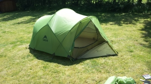 Fly sheet setup complete. Not bad. Not bad at all :-)