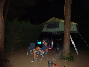Our first night in our brand new Gordigear tent..