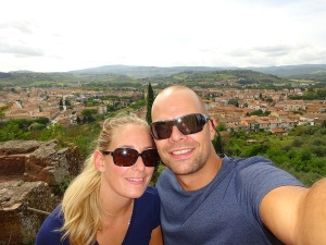 Christer & Tonje. Happy travelers in Toscana, Italy.